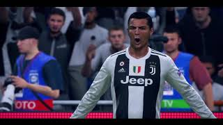 FIFA 19  IN GAME HIGHLIGHTS JUVENTUS vs MANCHESTER UNITED UEFA CHAMPIONS LEAGUE