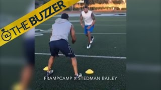 NFL wide receiver Stedman Bailey runs routs 5 months after being shot in the head