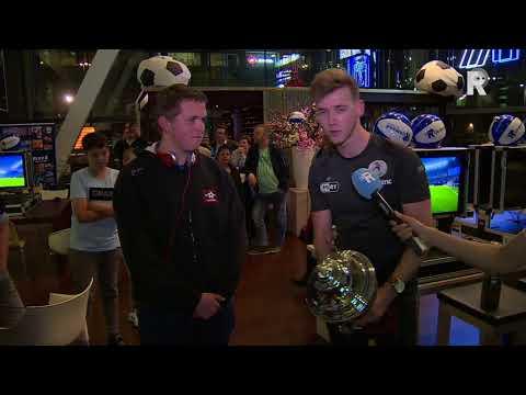 De slotfase en prijsuitreiking van de RTV Rijnmond E-Soccer Cup