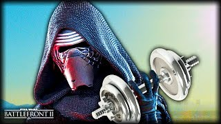 Star Wars Battlefront 2 - Funny Gameplay Moments (Star Wars: The Last Dumbbell Press)