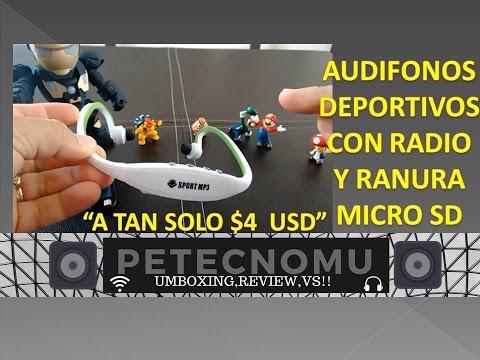 AUDIFONOS Sport Mp3 CON RADIO Y LECTOR DE TARJETAS MICRO SD
