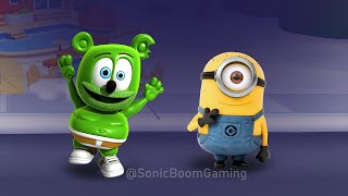 MINION from Despicable Me vs GUMMY BEAR RUNNING ?