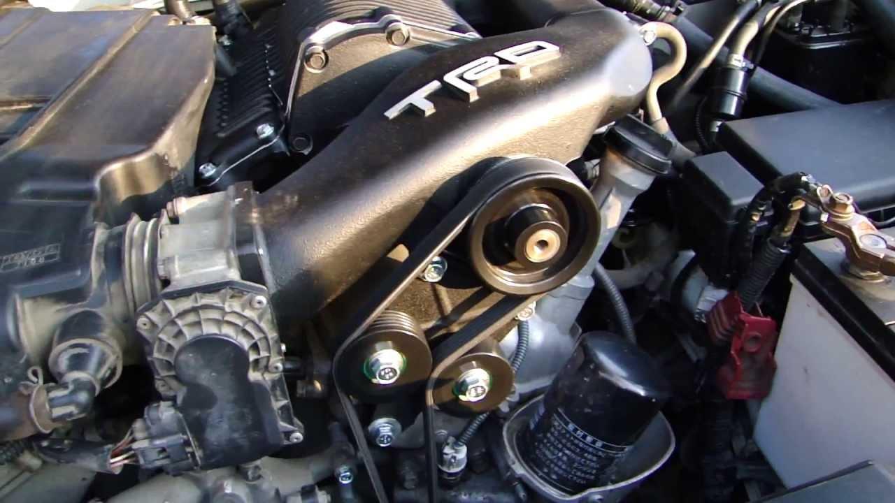 Trd Supercharger Toyota Prado 121 120 1gr Fe Youtube