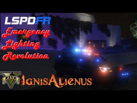 LSPDFR - Enhanced Emergency Lighting Showcase | FunnyDog TV