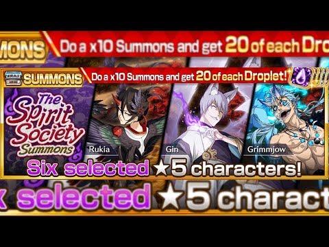 Bleach Brave Souls: Tentativa Summons Spirit Society!!! VALEU A PENA!? - Omega Play