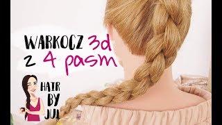 Warkocz z 4 pasm 3d - hair by Jul