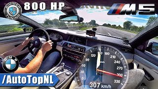 307km/h 800HP BMW M5 F10 Bimmer Tuning AUTOBAHN DRIVE by AutoTopNL