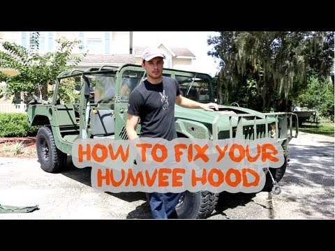 Humvee resto mod project part 8: How to fix damage on your fiberglass Humvee hood