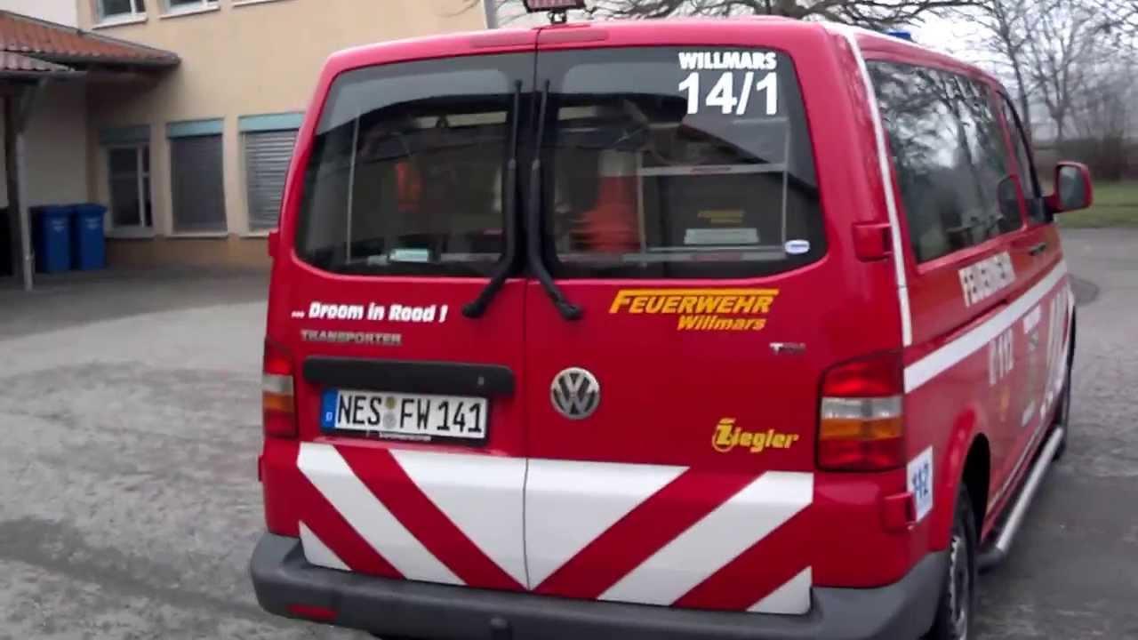 Feuerwehr Willmars neuer MTW - YouTube