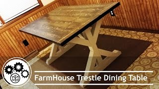 Today we build a trestle style farm house table. Follow along with me on this build! Link for plans below! Farmhouse Table Build