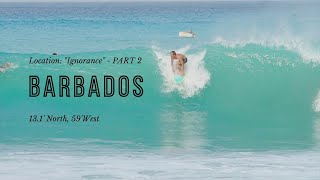 SURFING BARBADOS - North Swell Part 1 - 2021