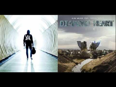 Diamond Heart ✘ Faded [Remix Mashup] - Alan Walker ft. Sophia Somajo