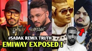 Emiway Exposed ! #sadak remix Raftaar x Emiway TRUTH | Drake and Sidhu