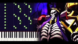 Overlord OP 1 - Clattanoia (Full) [Piano tutorial + SHEETS] // Synthesia
