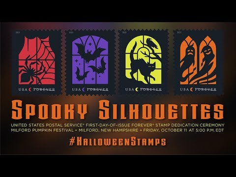 USPS Spooky Silhouettes Forever® Stamp