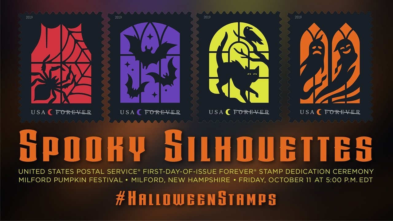 Usps Spooky Silhouettes Forever Stamp