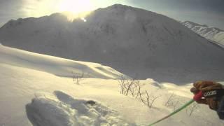 Turnagain Pass Backcountry Skiing Run 2: Eddies Ridge 1-28-12