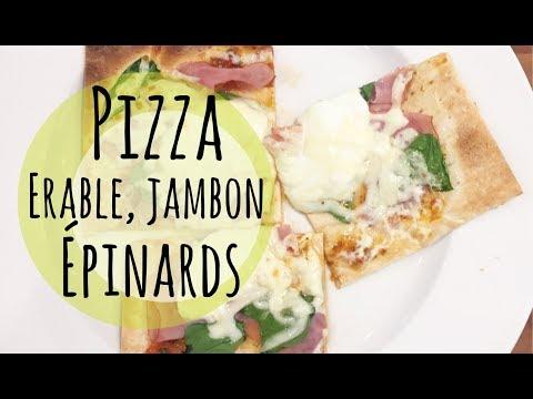 recette-pizza-jambon,-Épinards-et-Érable