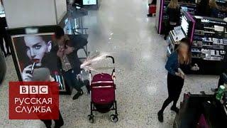 Взрыв электронной сигареты  запись камер видеонаблюдения