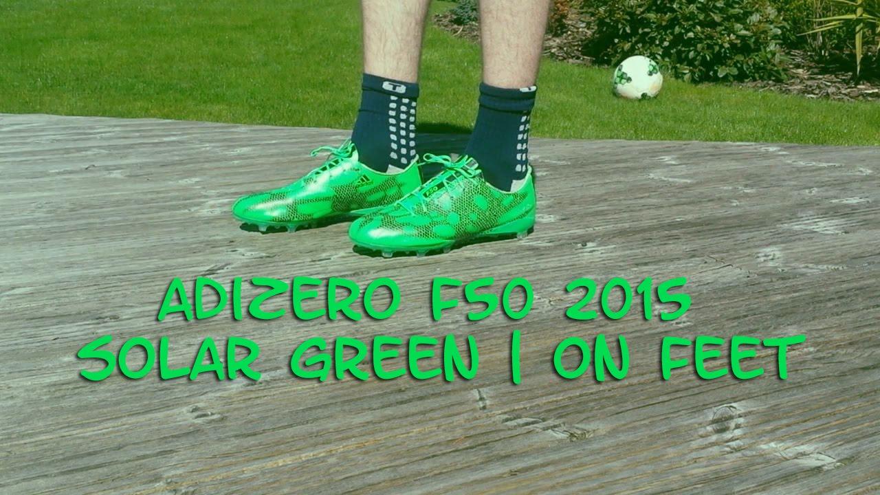 adidas adizero f50 solar green