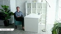 Hudson 16-Cube Shelf with Desk - White - Product Review Video