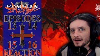 Teeaboo Reacts - Neon Genesis Evangelion [EVA] Episodes 13, 14, 15, 16 - Tension Tension Tension