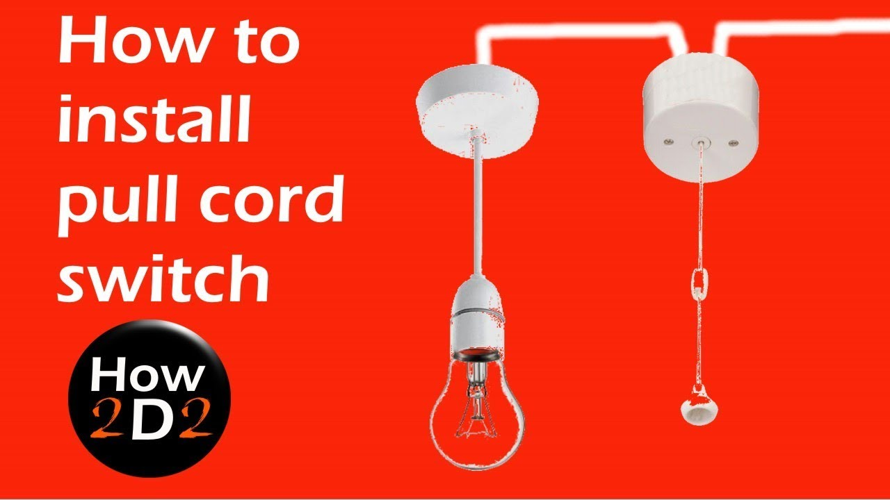 How to install and wire pull cord switch  YouTube
