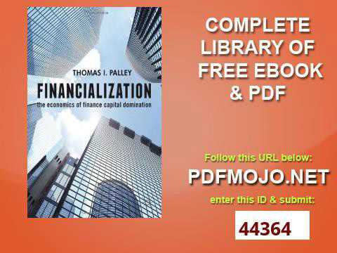 Financialization The Economics of Finance Capital Domination