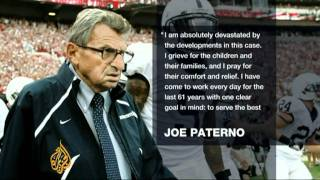 Football coach Paterno fired over sex scandal