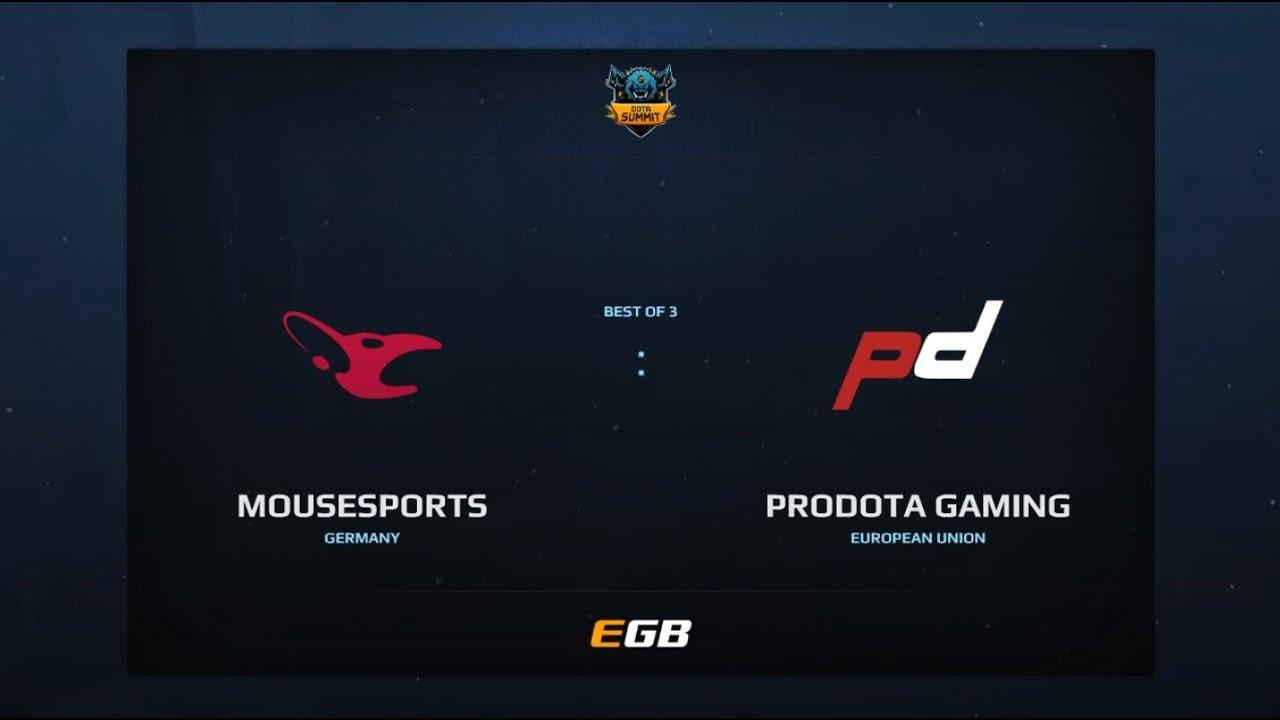 Mousesports vs PD Gaming, Game 1, Dota Summit 7, EU Qualifier