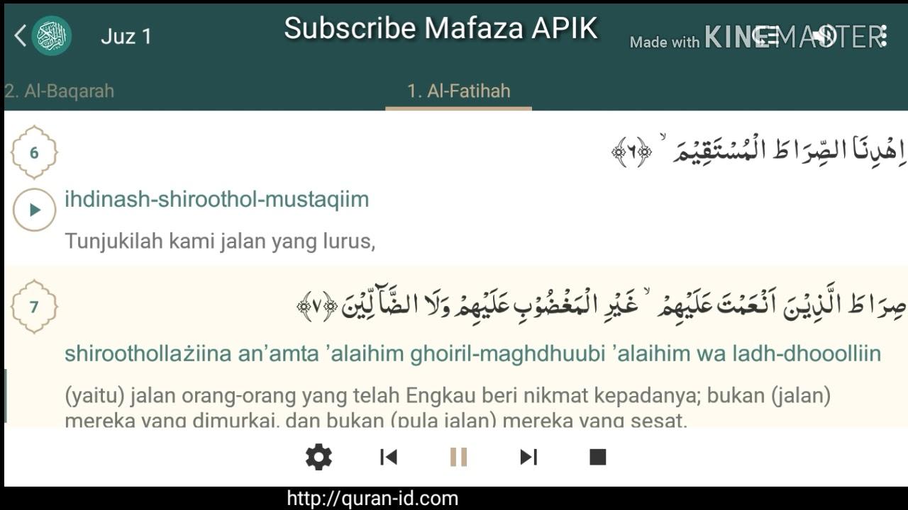 Surat Al Fatihah Paling Merdu Dan Artinya Dalam Bahasa Indonesia