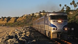 Amtrak & Metrolink at San Clemente Beach in 2015