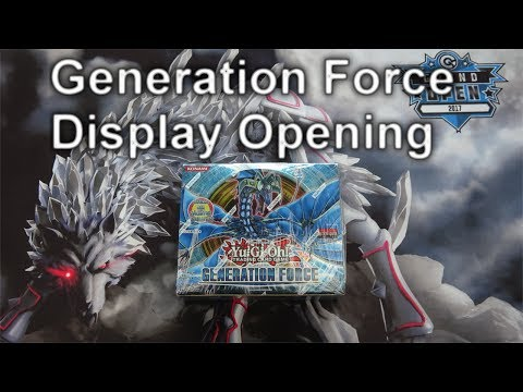 YuGiOh GENERATION FORCE Display Opening (4K)
