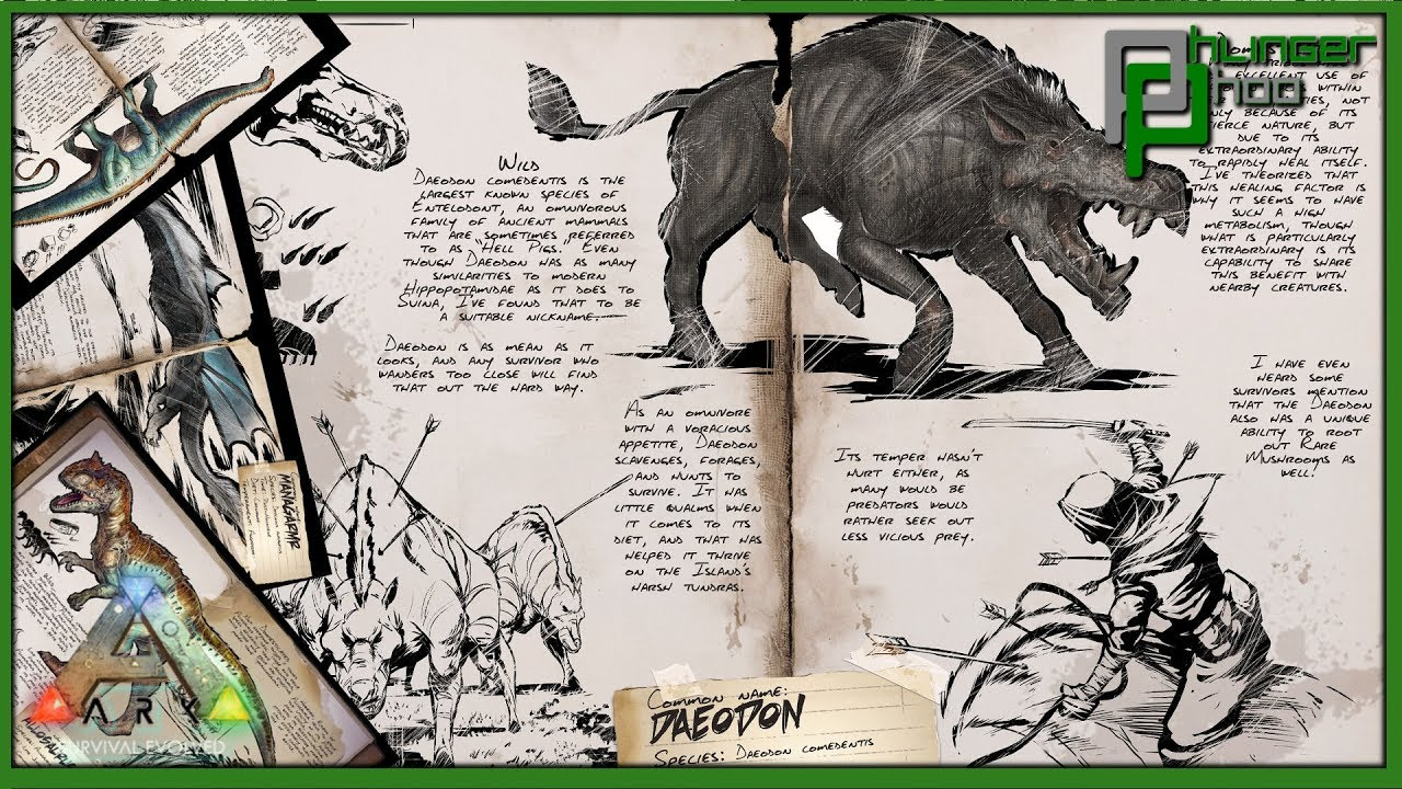 Daeodon Guide For Ark Survival Evolved By Mitt Gaming Cloth hat cloth shirt flak gloves. daeodon guide for ark survival evolved