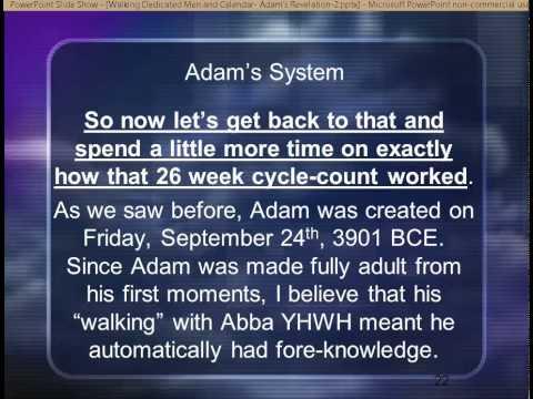 Adam's Calendar Revelation 2