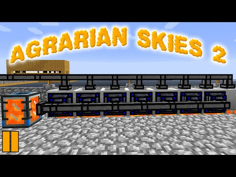 Minecraft Mods Agrarian Skies 2 - POWER GENERATION !!! [E11] (Modded Skyblock)