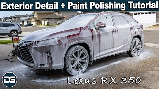 Real Time Detailing of a Beautiful Lexus RX 350! | Full Paint Polishing Tutorial and Exterior Detail