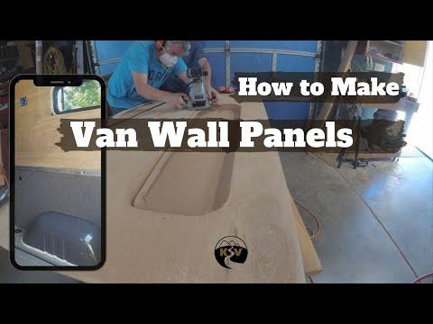 Making Van Wall Panels - DIY Sprinter Camper Van