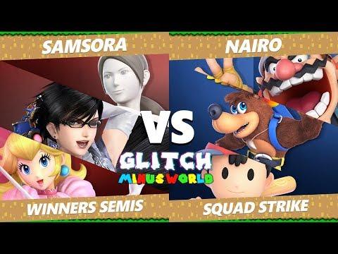 Glitch 7 SSBU - NRG   Nairo Vs. eU   Samsora - Smash Ultimate Squad Strike Winners Semis