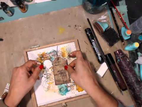 Mixed Media Cigar Box Cover with Limor Webber on Live with P