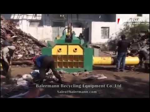 MBT-250 Metal Scrap Balers | Waste Metal Recycling Baling Press in Uzbekistan
