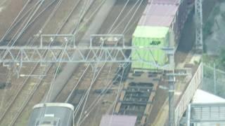 JR貨物 EF64-1017号機 貨物列車 名古屋駅付近を走行 愛知機関区 2019.6.1