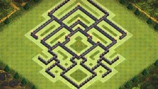 Clash Of Clans - Épico Layout de Guerra para Centro de Vila 8 (Town Hall 8 Clan War-Base) #1