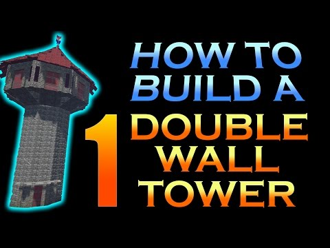 How To Build A Double Wall Round Tower In ARK, Part 1