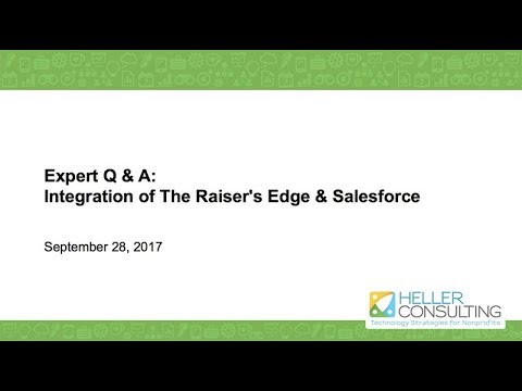 Expert Q & A: Integrating The Raiser's Edge and Salesforce