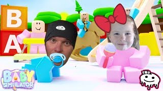WE ARE BABIES in ROBLOX + CODES-Baby Simulator | Daddy and Barunka CZ/SK