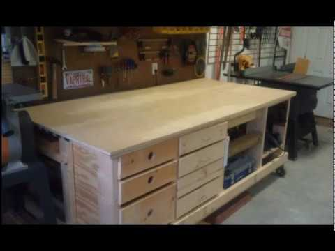garage workbench units the ultimate space saving workbench for the garage youtube