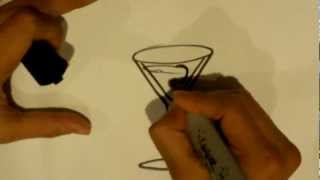 How to Draw a Martini - Drawing Sites