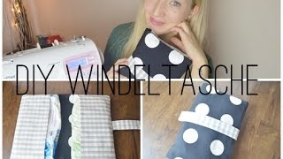 Repeat youtube video DIY Windeltasche nähen | Nähanleitung