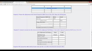 Bad Debts and Provision for Bad Debts example